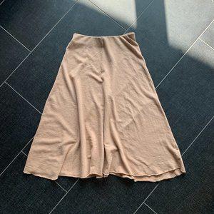 Zara Skirts - Zara Trafaluc Dusty Rose Tan Midi Skirt